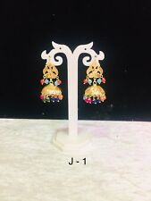 Multi Colour Jumka Indian Style Earring Gold Plated Good Quality Jumki Beads New