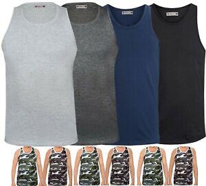 Mens Plain Vest Sleeveless Tank Top Training Gym BodyBuilding Vests Comfy Fit