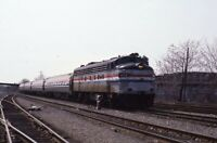 AMTRAK Railroad Locomotive 488 RENSSELAER NY Original 1983 Photo Slide