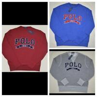 New M L XL XXL Polo Ralph Lauren Mens Fleece sweatshirt pullover crew neck top