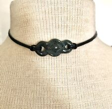 18 inch  Natural Greek Leather Choker Necklace 1407