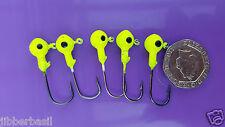 5 x Jig Heads Large 3.5g - Soft Lure Hooks - Jelly Worm Hooks Sea fishing bass