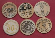 6 Misc Numismatic Woods Pieces