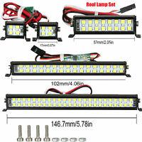 For SCX10 D90 TRX4 1/10 RC Climbing Car Spotlight Dual-Row Roof Lamp Light MV