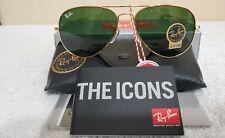 Ray-Ban Aviator Gold Metal Frame/Green Non-polarized Sunglasses BRAND NEW!