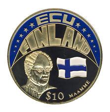 Liberia - 10 Dollars 2001 - ECU - Flagge FINNLAND - FARBE - ANSCHAUEN