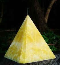 1KG 150hr SAFFRON & BOYSENBERRY Scented 4 SIDED PYRAMID CANDLE Christmas Gift