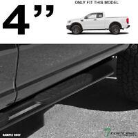 """Topline For 2019-2020 Ford Ranger Super Cab 4"""" Oval Side Step Nerf Bars - Black"""