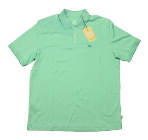 Tommy Bahama Men's Mint Green Tipped Short Sleeve Polo Shirt