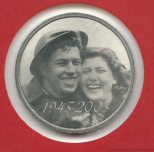 Canada silver medal 2005 out of the set Liberation 60th anniversary end WWII