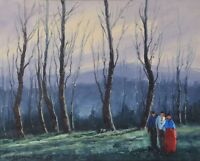 AUGUSTO GOMES MARTINS Oil Painting Forest Landscape Portuguese Listed 1922-94