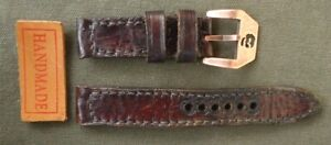 22 MM VINTAGE LEATHER WATCH STRAP HAND MADE.