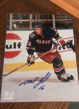 Signed MIKE YORK New York Rangers Autographed Photo
