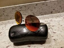 609113a51f CHANEL 4216 c.124 6Q Airlines Collection Round Rimless RED Sunglasses ❤