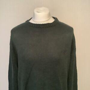 Chaps Ralph Lauren Green Mens Pull Over 100% Cotton Jumper Size XL