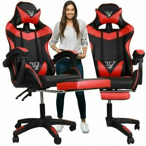 Executive Racing Gaming Chairs Swivel Leather Computer 💀💥 READ DESCRIPTION💥