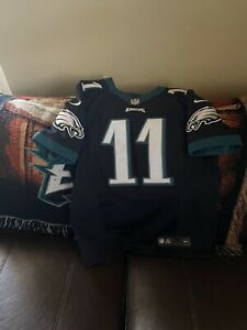Authentic Elite Nike Phi Eagles Carson Wentz Home Black  Jersey Men's Size 44