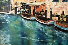 Blue Canal by Malenda Trick-Chandler; Original Oil