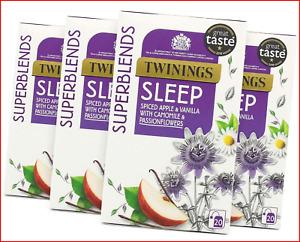 Twinings Superblends Sleep Tea with Spiced Apple, Vanilla, Camomile & 80 Teabags
