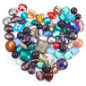 500g Mixed Handmade Lampwork Glass Beads Mixed Color Bracelet Charms Making