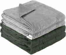 """LANGRIA Weighted Blanket (Weighted Blanket w/ Duvet Cover, 48''x72"""" 15lbs)"""