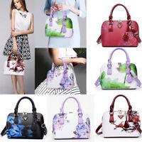 Women Flower Print Purse PU Leather Hobo Handbag Shoulder Bags Messenger Bag New