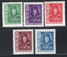 Hungary 1935 Rakoczi Set of 5 MNH