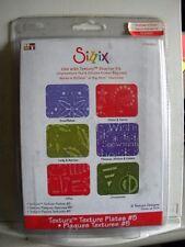 Sizzix Texture Plates kit # 5 654968 NEW!