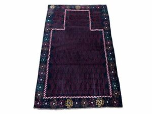 3 X 5 Vintage Handmade Tribal Wool Rug Baluchi Rug Afghan Rug Balouch Rug 3x4.7