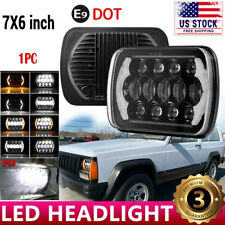 "DOT 7X6"" 6X7inch Rectangle LED HI-LO SEALED HEADLIGHT FOR TOYOTA PICKUP TRUCK"