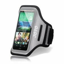 HTC One M9  2015 Armband, JOTO Sport Armband Case , with Key Holder (Gray)