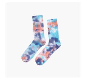 Sneakersnstuff: Tie Dye Socks{10-13}{Scuba Blue}{unisex}{Limited Edition}