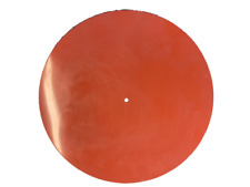 Special (240mm o.d.) Silicone Rubber Turntable Mat 3mm Thick Red Iron Oxide