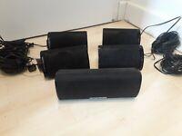 Harman Kardon HKTS SAT-TS7BQ 5.1 Surround Sound Lautsprecher Set + Wandhalterung