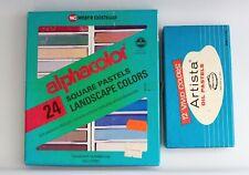 Vintage Pastel Sets Weber Costello AlphaColor + Artista Oil Pastels