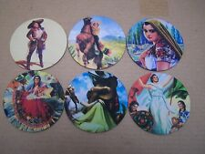Lot of 6 Neoprene Mexican Calendar Girls/Cowgirls Coasters #2