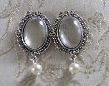 Ivory Memorial Shoe Clip Charms made with Swarovski Beads/Photo/Wedding/Bridal