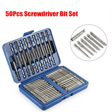 50Pcs Extra Long Security Bits Hex Star Torx Spline Flat Screwdriver Bit Set