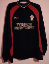 SOUTHAMPTON FOOTBALL CLUB 2001 L/S BLACK RED SWEAT SHIRT FRIENDS PROVIDENT L VGC