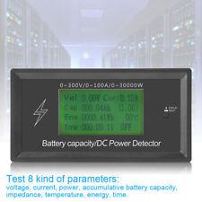 300V/100A Digital DC Voltmeter Ammeter Voltage Meter Battery Power Tester BG