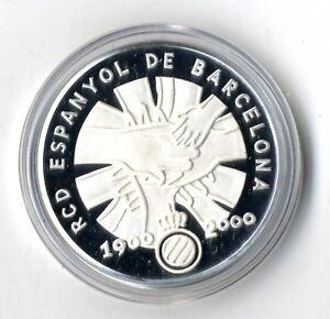 Medalla Centenario RCD Espanyol de Futbol Plata .999  calidad Proof certificado