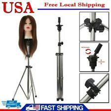Adjustable Wig Head Stand Mannequin Tripod Hairdressing Training Holder 75-135cm