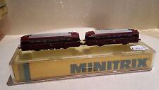 Minitrix 51 2980 00 Schienenbus VT98 und VS98 Spur N in OVP analog (A253)