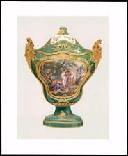 1907 ORIGINALE ANTICO CROMOLITOGRAFIA vaso e coperchio soffice PASTA Luigi XV (14)