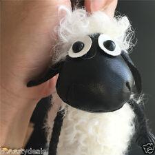 "12"" Real Sheep Fur Ball Pom Shaun the Sheep Plush Soft Toy Bag charm keychain"