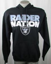 Oakland Raiders NFL Team Apparel Women's Raider Nation Black Hooded Sweatshirt