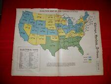 1928 Chicago Sunday Tribune Newspaper Herbert Hoover Electoral College Map Camel