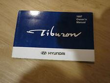1997  HYUNDAI TIBURON  OWNERS MANUAL BOOK