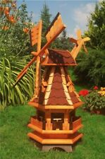 Gartenwindmühle mit roten Schindeln – Höhe 1 Meter