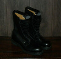 VTG 1994 Combat Boots Fully Lined SIZE 8 N Black Motorcycle Boots